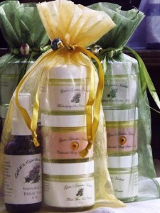herbal skin care products from gaias garden herbals made by Susan Meeker-Lowry in Maine