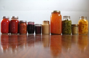 food preserved by home canning method