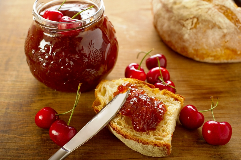 Sour cherries make delicious cherry jam and compote. Photo by Marcomayer, Dreamstime Stock Image.