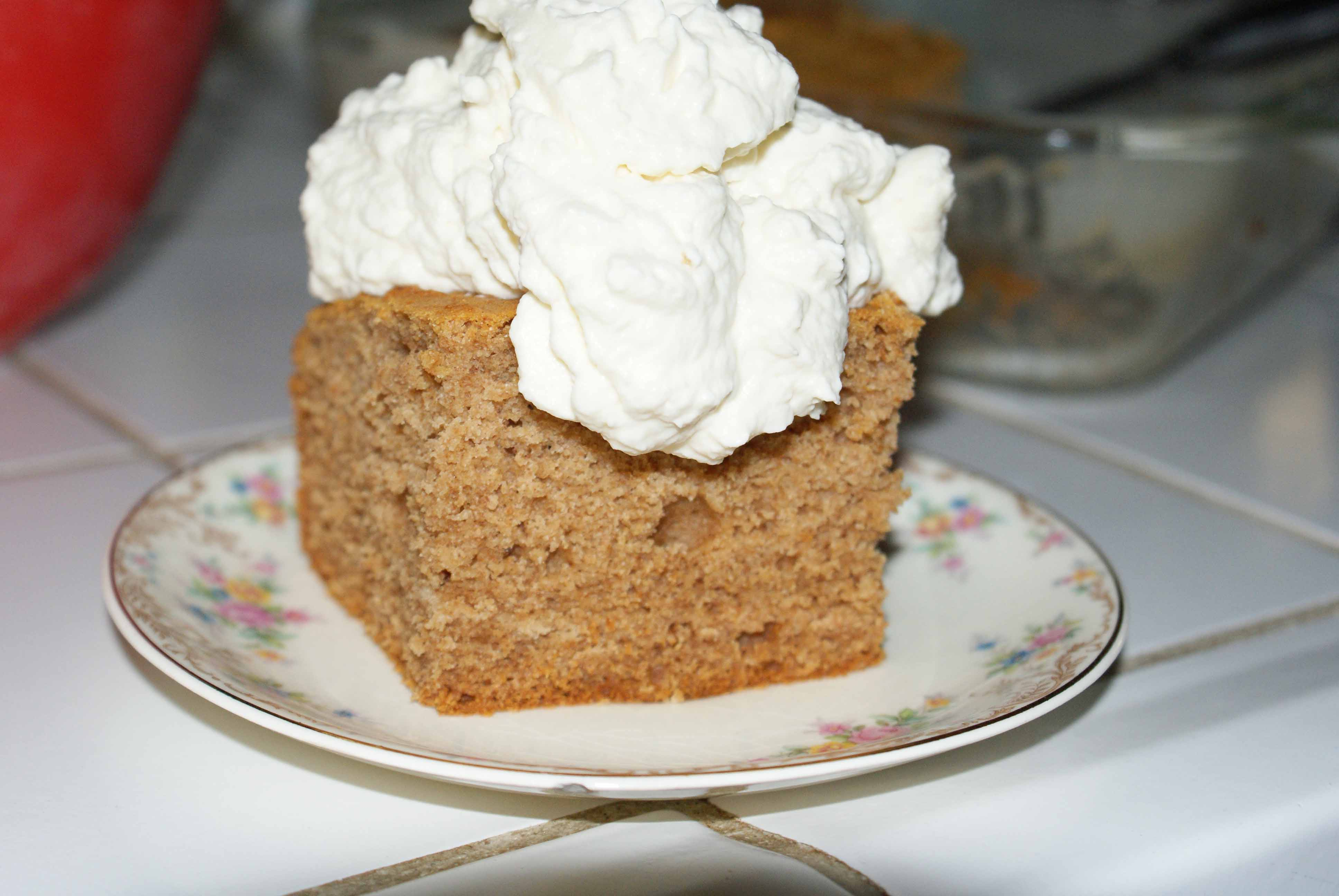 Honey applesauce cake.