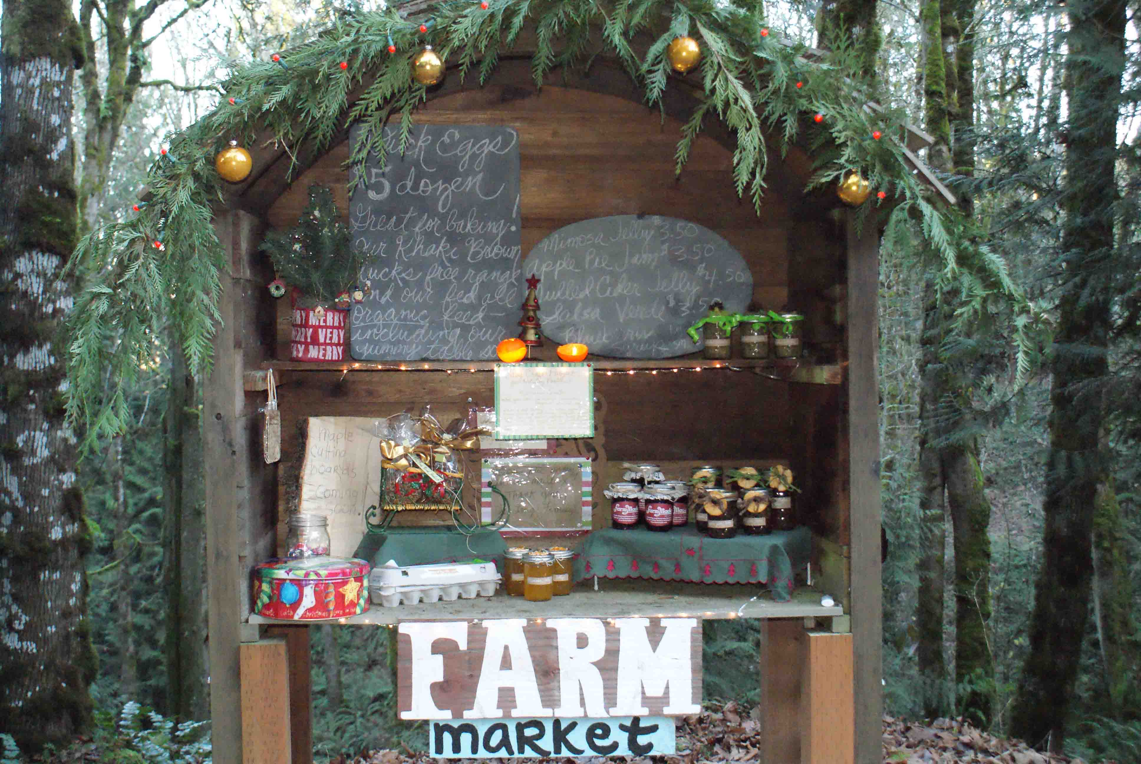 Holiday Roadside Farm Stand.
