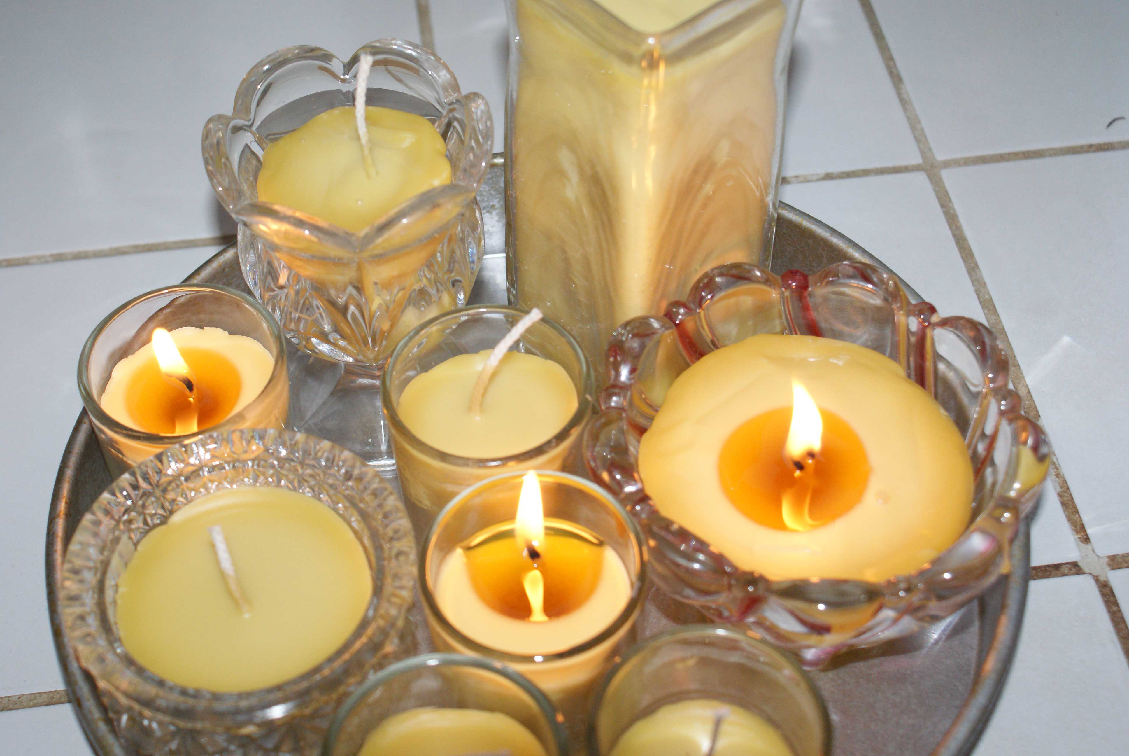 Making Beeswax Candles.