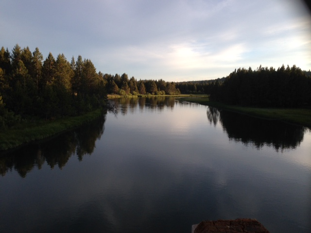 Deschutes River in Sunriver-looking north. Photo by Eastonworks