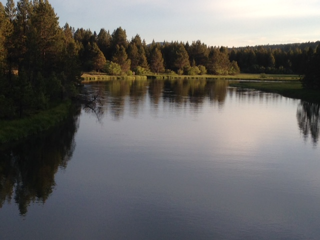 Deschutes River in Sunriver-looking south-photo by Eastonworks